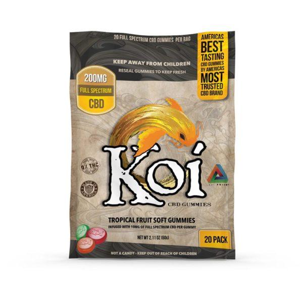 Koi CBD Tropical Fruit Flavored Gummies 10mg 20 Count