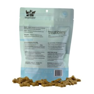 Treatibles Small Blueberry Grain Free Hard Chews 1mg EASE Back