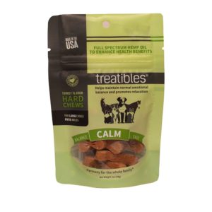 Treatibles Large Turkey Grain Free Hard Chews 4mg CALM Introductory Pack
