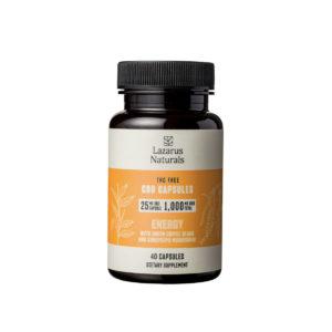 Lazarus Naturals Energy CBD Capsules - 25mg 40 Capsules