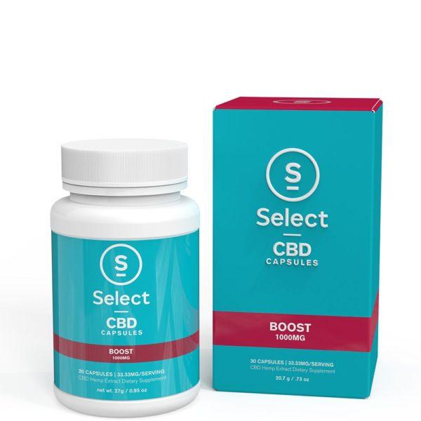 Select CBD Gel Capsules Boost 30ct - 1000mg