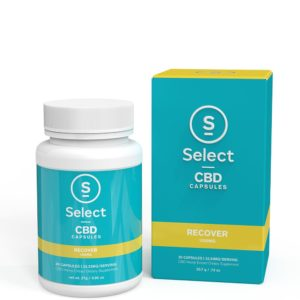 Select CBD Gel Capsules Recover 30ct - 1000mg