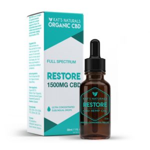 Kat's Naturals Restore-1500mg Full Spectrum sublingual 5ml