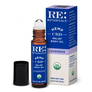 RE Botanicals Hemp Relief Body Oil Lavender