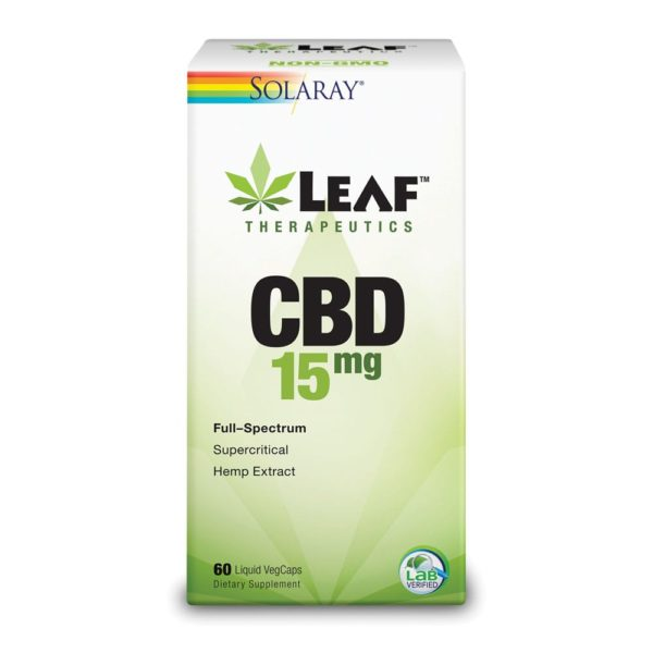 Leaf Therapeutics CBD 15mg 60 count 600x600 - Solaray Leaf Therapeutics CBD 15mg 60 count