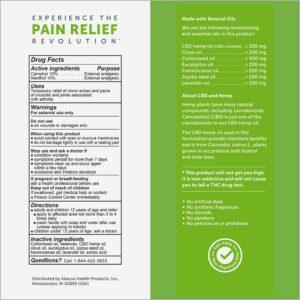 CBDMEDIC™ Arthritis Aches & Pain Relief Deep Joint Rub Ointment 1.4oz Label