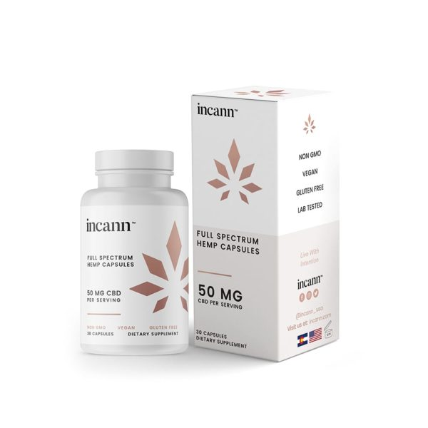 Incann Full Spectrum CBD Vegan Capsules - Direct CBD Online