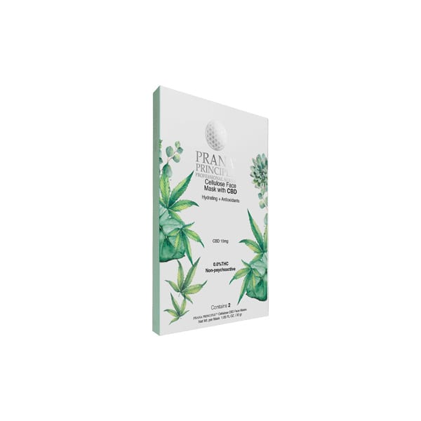 PRANA PRINCIPLE™ Cellulose Face Mask With CBD 10mg - 2 Pack