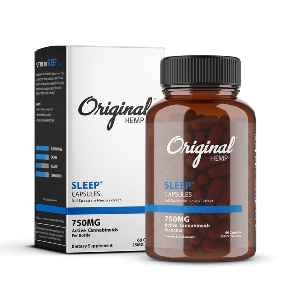 Original Hemp Sleep Capsule 60 count 750mg 600x600 - Original Hemp Sleep Capsule 60 count - 750mg