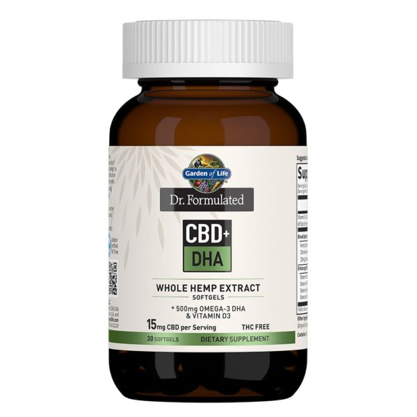 Dr. Formulated CBD DHA Softgels 15mg 30 Count 600x600 - Dr. Formulated CBD+ DHA Softgels 15mg 30 Count