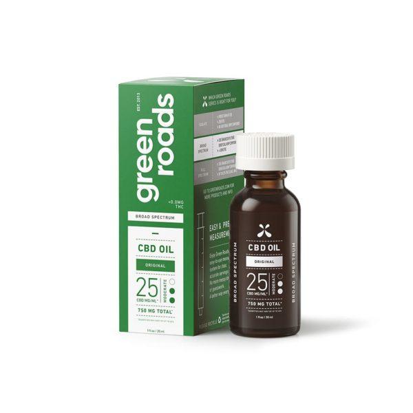 Green Roads CBD Tincture Oil 30ml- Original 750mg Broad Spectrum
