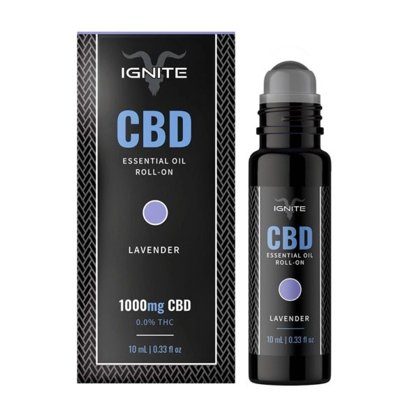 Ignite CBD Roll on Calm Lavender 1000mg 600x600 - Ignite CBD Essential Oil Roll-on - Calm - Lavender 1000mg