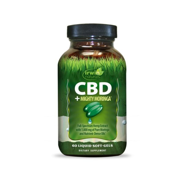 Irwin Naturals CBD Mighty Moringa® 60 Liquid Soft Gels 600x600 - Irwin Naturals CBD Soft-Gels +Mighty Moringa® 60 Count