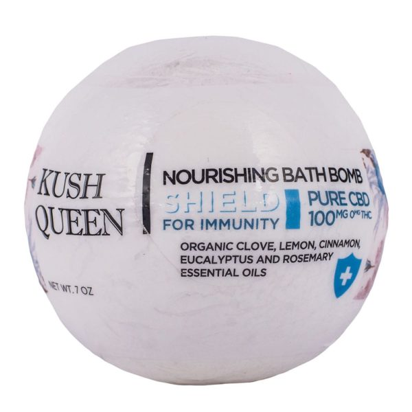 Kush Queen Shield For Immunity CBD Bath Bomb 600x600 - Kush Queen Shield For Immunity CBD Bath Bomb