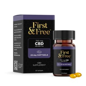 First & Free CBD Softgels 25mg 30 Count