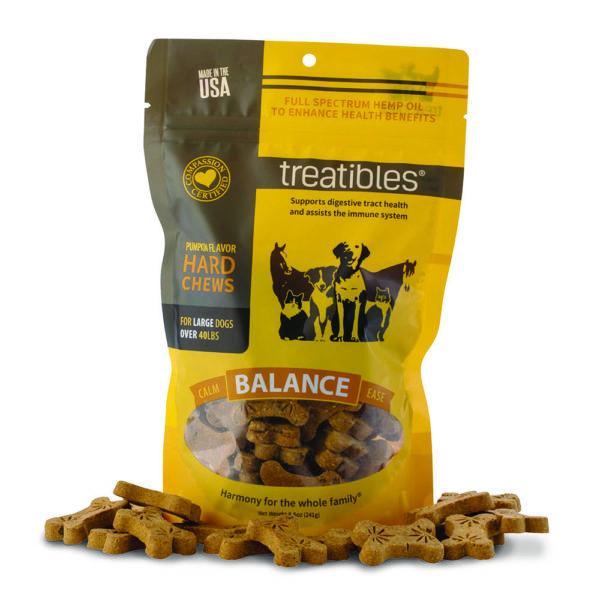 Treatibles Large Pumpkin Grain Free Hard Chews 4mg BALANCE
