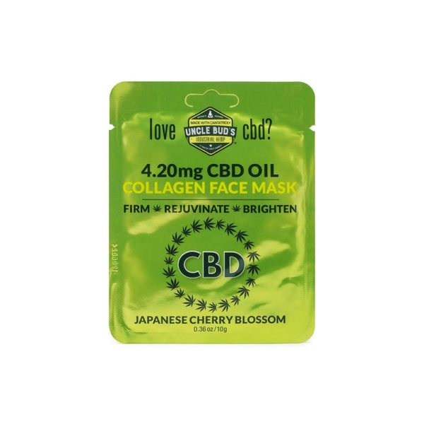 Uncle Buds 4.20mg CBD Collagen Face Mask 6 Pack