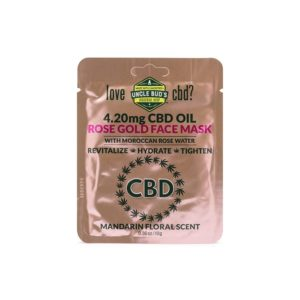 Uncle Buds 4.20mg CBD Rose Gold Face Mask 6 Pack