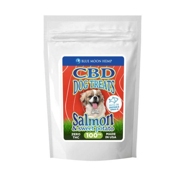 Blue Moon Hemp CBD Dog Treats Salmon and Sweet Potato 100mg 600x600 - Blue Moon Hemp CBD Dog Treats - Salmon & Sweet Potato
