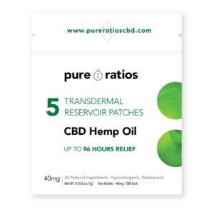 Pure Ratios 96 hour Transdermal CBD Pain Patch 40mg 5 Pack