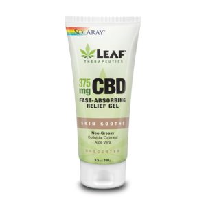 Solaray Leaf Therapeutics CBD Skin Soothe Gel - Unscented 375mg