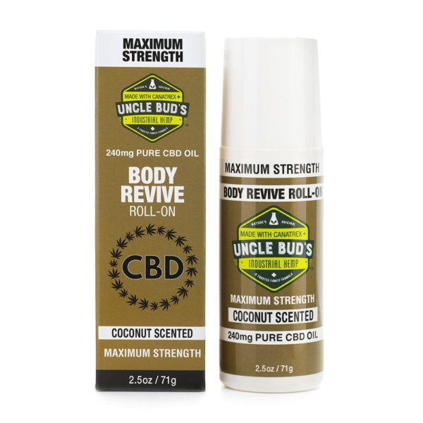 Uncle Bud's CBD Body Revive Roll-On - Gold Box 240mg