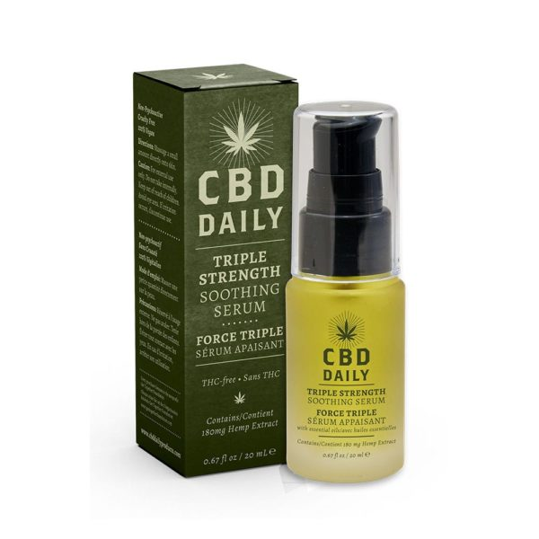 CBD Daily Triple Strength Soothing Serum 180mg 20ml 600x600 - CBD Daily Triple Strength Soothing Serum 180mg 20ml