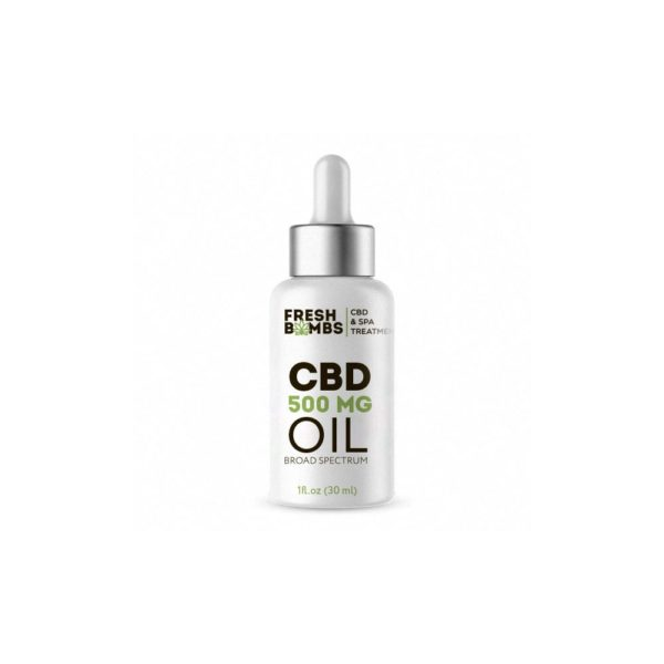 Fresh Bombs CBD Tincture Oil 500mg 600x600 - Fresh Bombs CBD Tincture Oil - Unflavored