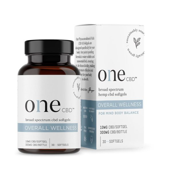 One CBD Softgels Overall Wellness 10mg 30 Count 600x600 - One CBD Softgels - Overall Wellness