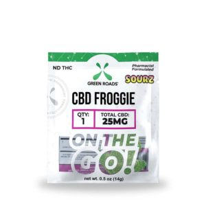 Green Roads CBD Froggies - Sour 25mg 1 Count On The Go Pack