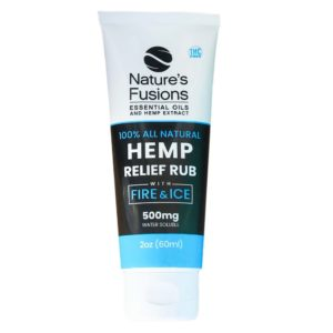 Nature's Fusions CBD Relief Cream w:Fire & Ice and Menthol - 500mg 2oz