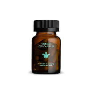 Wildflower CBD Capsules with Curcumin & Ginseng 20mg 30 Count