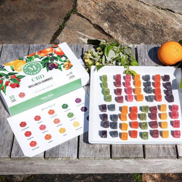 Martha Stewart CBD Wellness Gummies - 15 Flavor Sampler Lifestyle