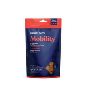 Honest Paws Mobility CBD Soft Chews for Dogs - Poultry 5mg 30 Count