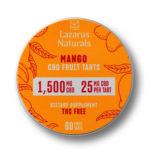 Lazarus Naturals CBD Fruit Tarts – Mango 25mg 60 Count