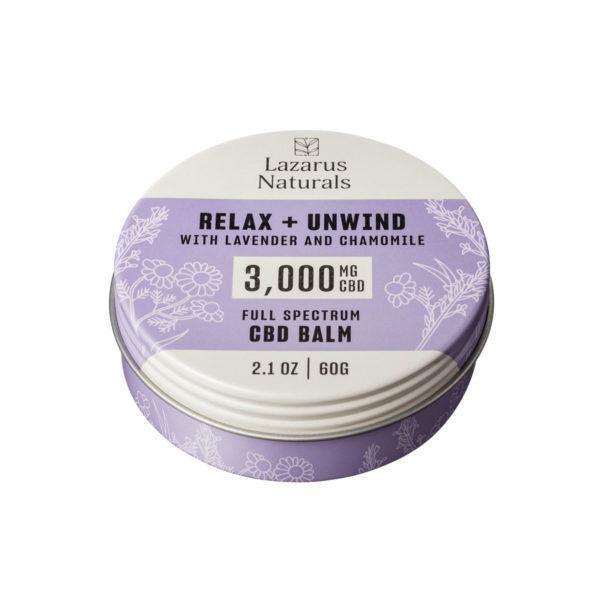 Lazarus Naturals Lavender CBD Balm 3000mg