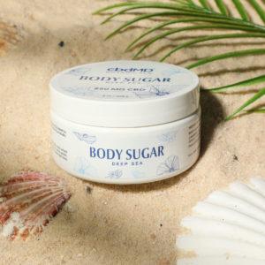 cbdMD Botanical Sugar Scrub - Deep Sea 250mg 8oz lifestyle
